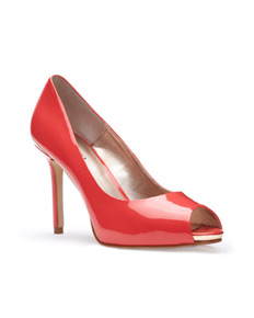 Open-toe pump, $90.