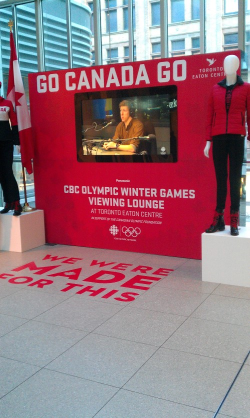 Olympic Viewing Lounge at the Toronto Eaton Centre